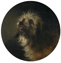portrait of a terrier by george earl