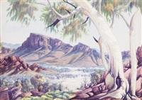 yuendumu, central australia by albert namatjira