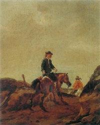riders on a path by pieter cornelius verbeeck