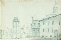 vue du forum au pied du capitole by willem von bemmel