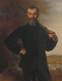 portrait d'un chasseur by xavier alphonse monchablon
