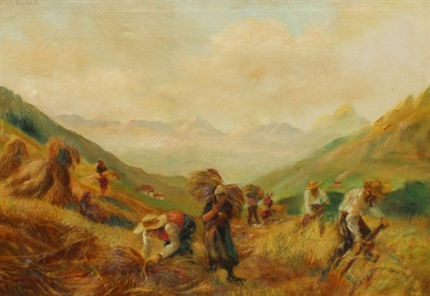 workers in a landscape by giuseppe maldarelli