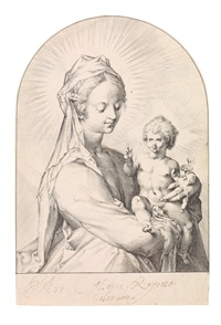 madonna mit kind by jan harmensz muller