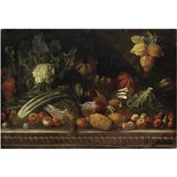 natura morta con cedri, frutta, rape e zucche by pier paolo (g.b. carracci) bonzi