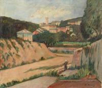 paesaggio ligure by piero marussig