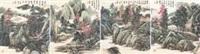 前贤诗意 (四件) (ancient poetic landscape) (4 works) by xiao haichun