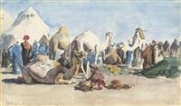 the camp at tantah, egypt by hercules brabazon brabazon