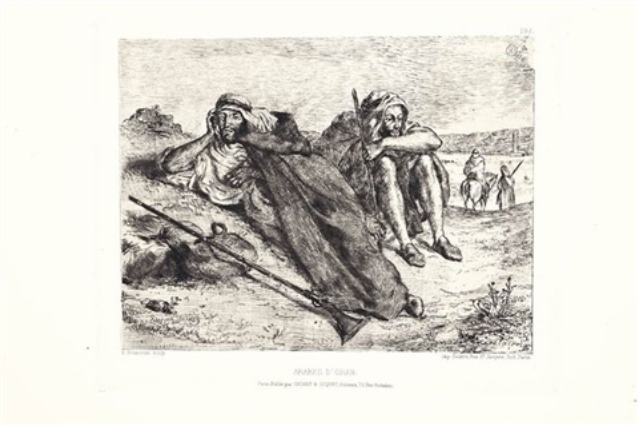 arabes doran by eugène delacroix