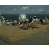 study for the beach by charles hoffbauer
