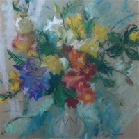 a still life of summer flowers by lena alexander