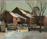 the farm in winter by winfield scott clime