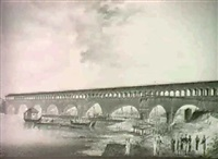 the building of the bridge of canaro, alexandria by lieutenant colonel jean sanucca