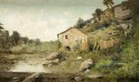 paisaje con casa by manuel ramos artal