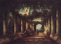 der cesarpalast auf der insel capri by julius edward w. helfft