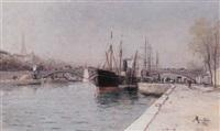 le pont d'alma et tour eiffel, paris by charles mertens