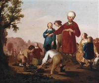 jacob buries the idols by jacob symonsz pynas