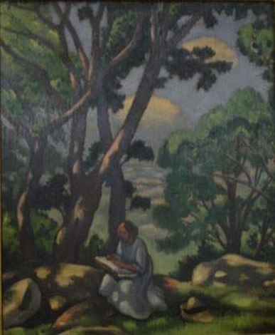 la lecture sous les pins by louis charlot