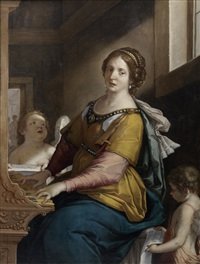saint cecilia by francesco giovanni gessi