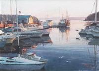 harbor morning by xiaogang zhu