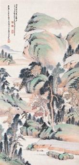 青绿山水 (landscape) by xiao junxian