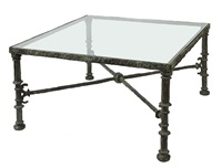 table grecque carrée by diego giacometti