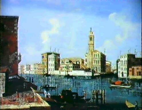 veduta veneziana del canal grande a s geremia by gaetano veturali