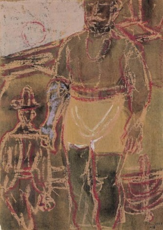 two figures by mark tobey