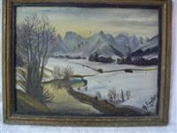 paysage de montagne by herbert fiedler