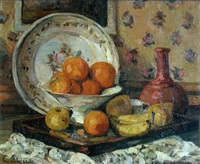still life with fruit by lucien laurent-gsell
