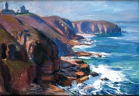 la pointe de saint-mathieu en bretagne by raymond (louis) le court