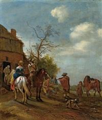rastende reiter by carel van falens