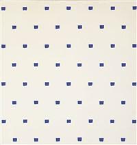 sans titre (empreintes de pinceau no. 50 répétées à intervalles réguliers de 30 cm) by niele toroni