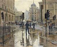 the city of london, rain effect by ken howard