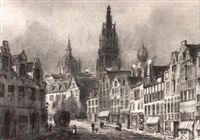 street scene in antwerp by e. nevil