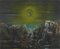 moon ii by max ernst