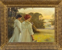 painting of two women by walter bonner gash