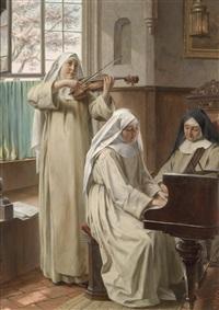 musik im kloster by august wilhelm roesler