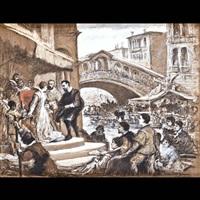 incontro a venezia by cesare felix georges dell' acqua
