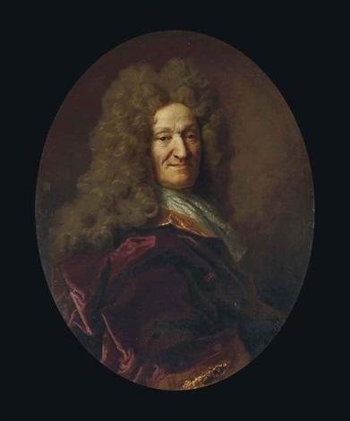 portrait de jean de la fontaine, âgé de 73 ans by nicolas de largillière