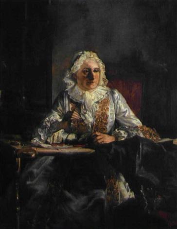 portrait of marie marguerite legendre crozat marquise du châtel by jacques andré joseph aved