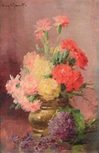 bouquet de fleurs by albert tibule furcy de lavault