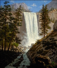 vernal falls, yosemite valley by enoch wood perry