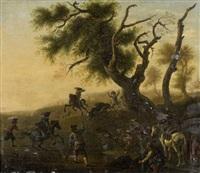 scène de chasse by jan miel