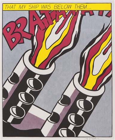 as i opened fire (triptych) by roy lichtenstein