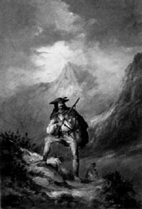 jäger im hochgebirge by joseph wolfram