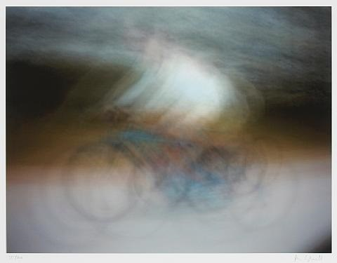 dynamism of a cyclist, after umberto boccioni (+ dynamism of an automobile, after luigi russolo; 2 works) by jim campbell
