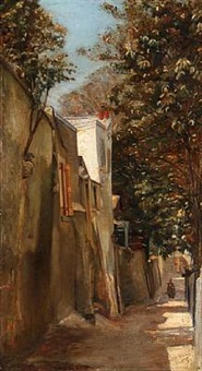 a small road in a southern european town by stephan peter jakob hjort ussing
