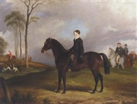 a boy on his hunter at a meet by john barwick
