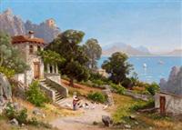 an einem oberitalienischen see by carl gustav rodde