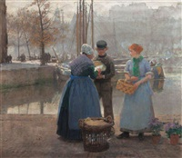 autumn morning in rotterdam by hans herrmann